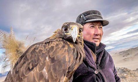 Eagle hunter and his eagle