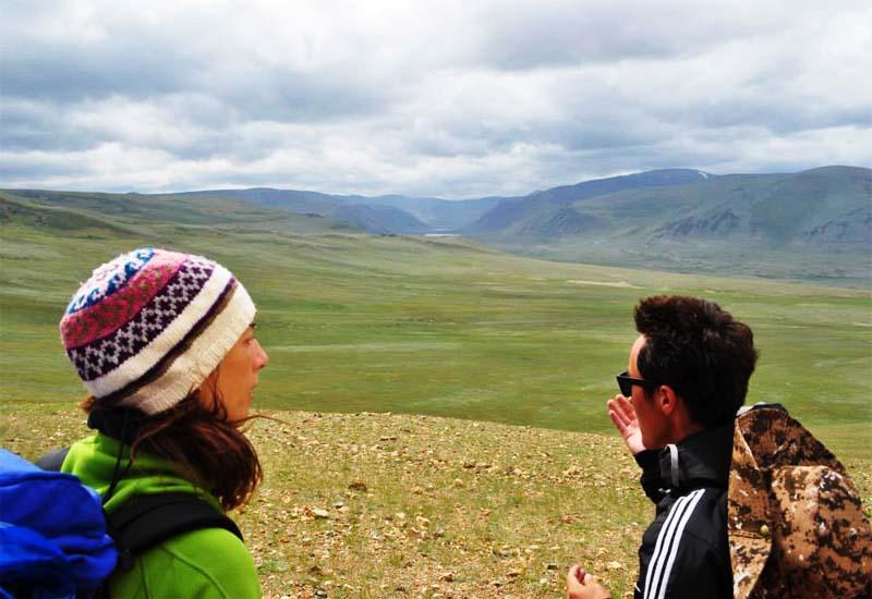 Short trekking in Mongolia
