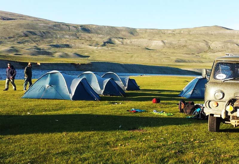 Camping equipment in Mongolia