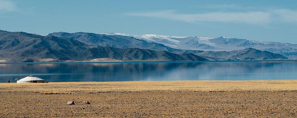 Tolbo lake in mongolia