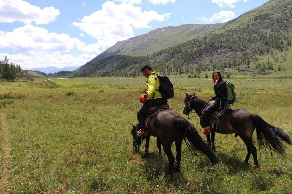 Horse trekking in Mongolia