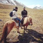 Horse riding in western Mongolia