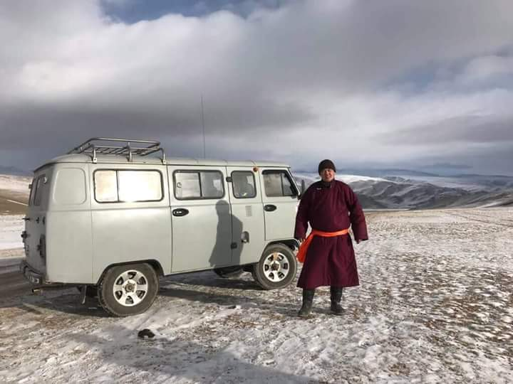 Russian vans in Mongolia