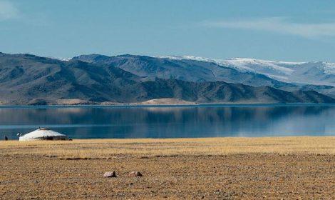 Tolbo lake in western mongolia