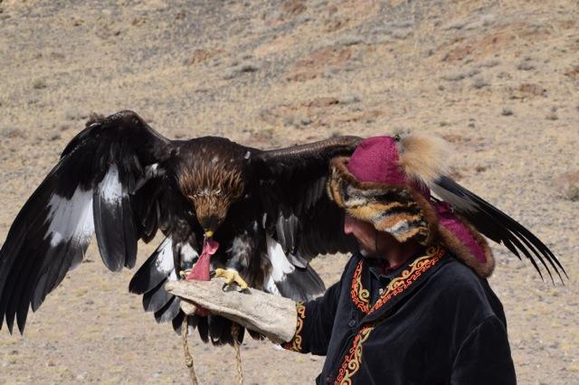 Eagle hunters in Mongolia