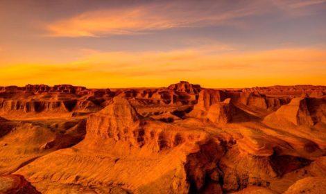 Flaming cliff - Gogi desert